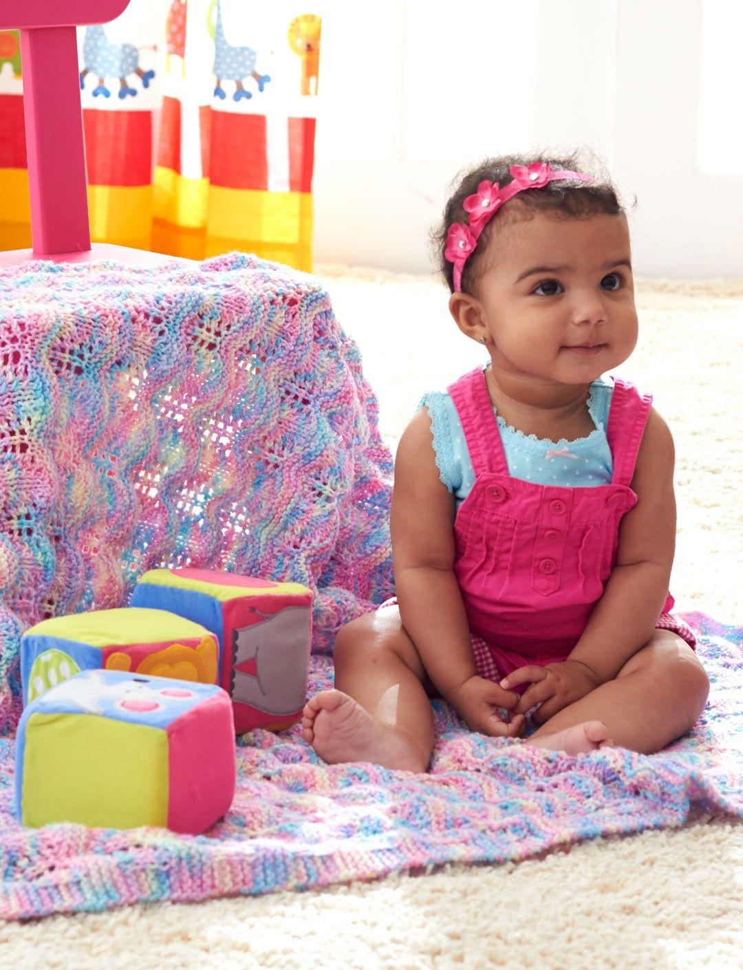 Yarnspirations.com - Bernat Baby Ripple Afghan - Patterns ...