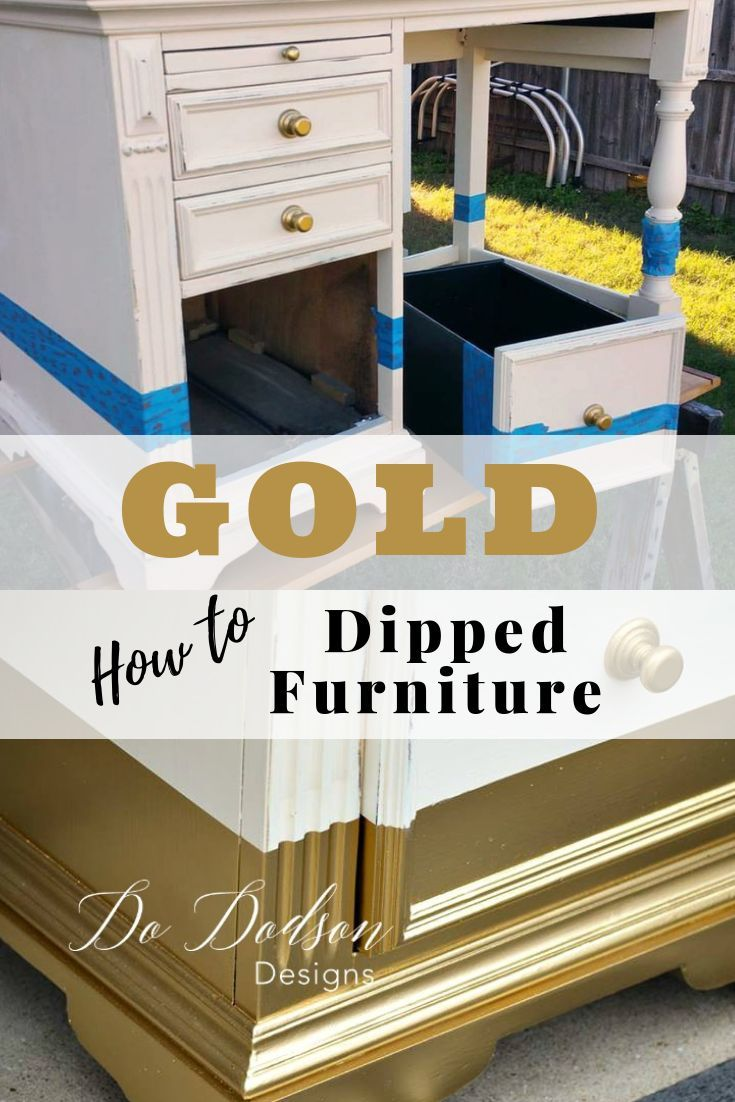 How to paint amazing gold dipped furniture for the win paint