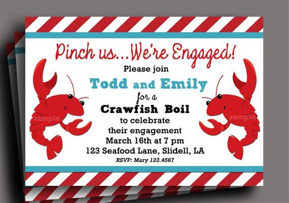 graphic regarding Crawfish Boil Invitations Free Printable referred to as Crawfish Boil Invitation Printable or Published with Cost-free