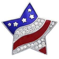cocojewelry 4th of July American Flag Design Eagle Pin Brooch Independence Day Gift