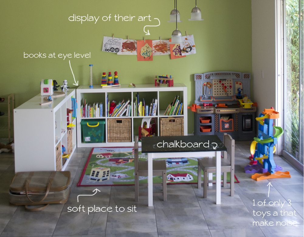 Anatomy Of A Toddler Play Space A Tour Of Where The Dudes Play Small Playroom Baby Playroom Small Playroom Organization #play #corner #in #living #room #ideas