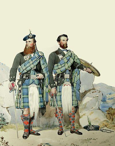 M13 - Charles MacHardy & John Michie. Men of Sir Charles Forbes. Strathdon, Aberdeenshire.