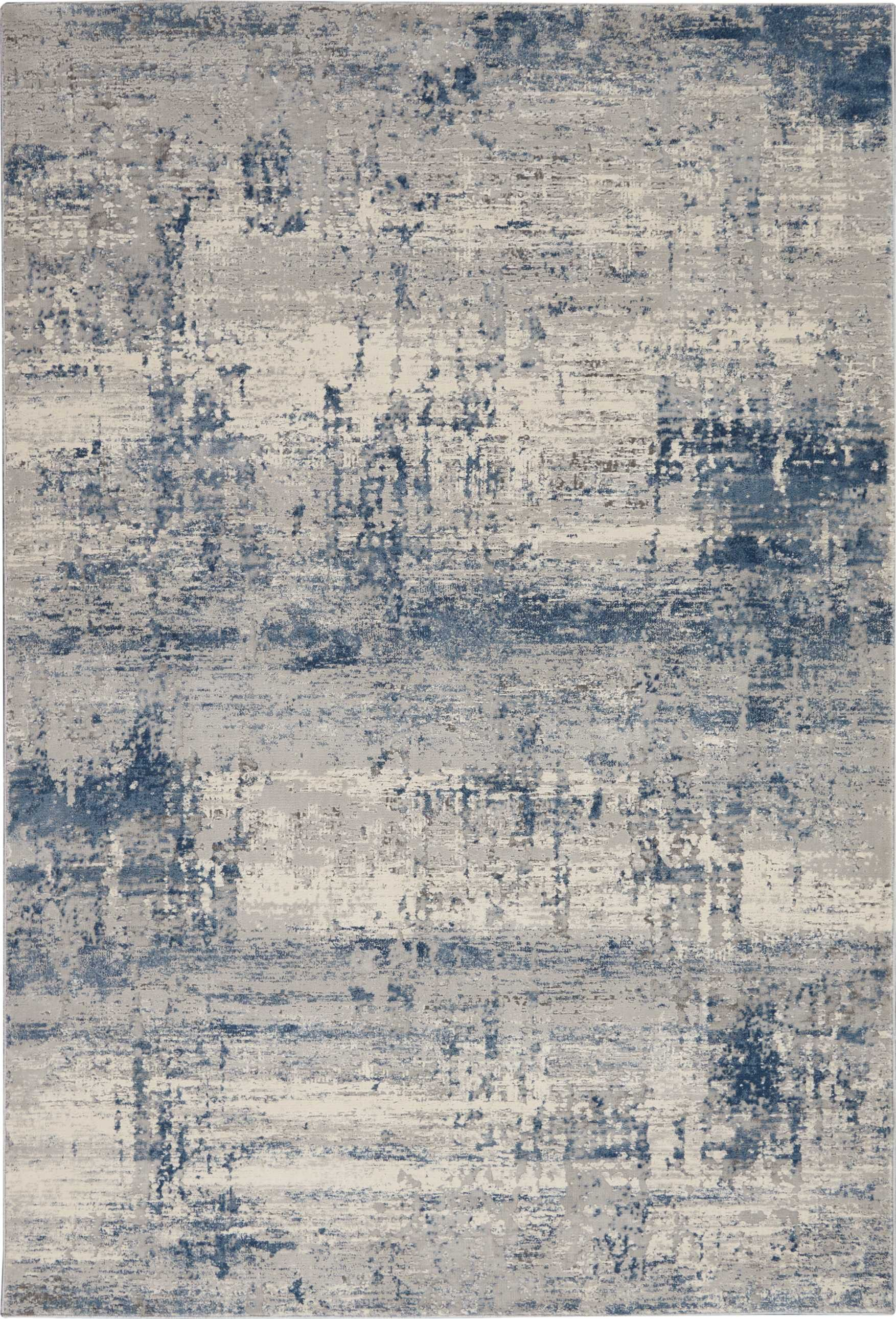 Rustic Textures Rus10 Ivory Blue Rustic Textures Area Rugs Products Textured Carpet Modern Carpets Design Blue Area Rugs