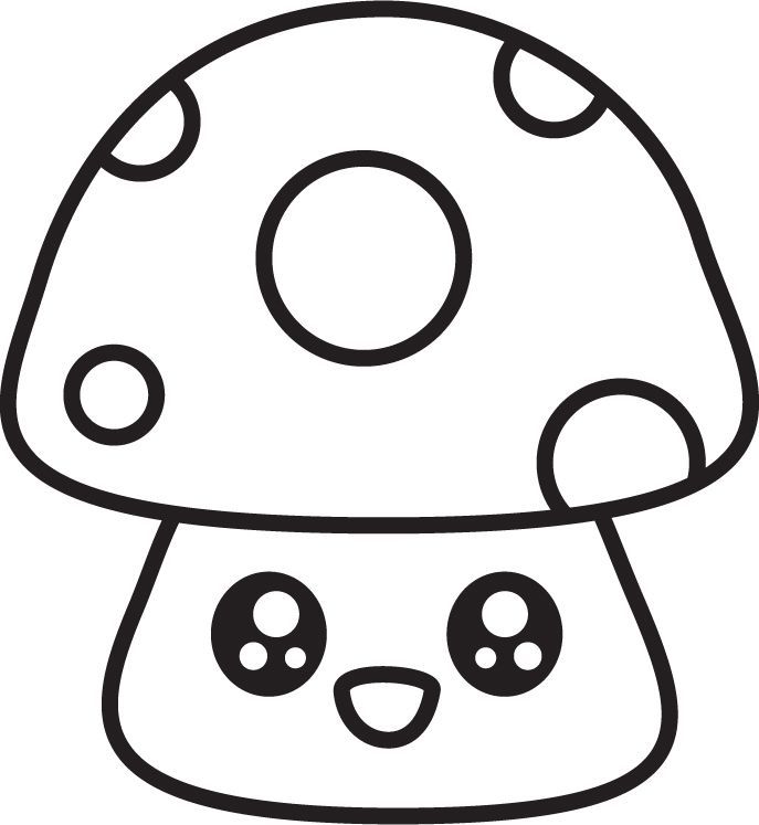 420 Top Cute Mushroom Coloring Pages For Free