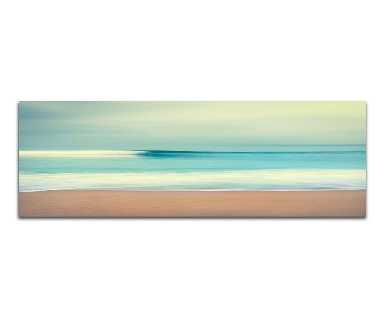 150x50cm Vintage Strand Panorama Retro Meer Sand Abstraktes Leinwand Sinus Art in Möbel & Wohnen, Dekoration, Bilder & Drucke   eBay!