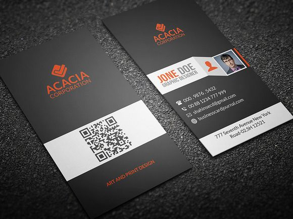 Simple Vertical Business Card Creativework247 Vertical Business