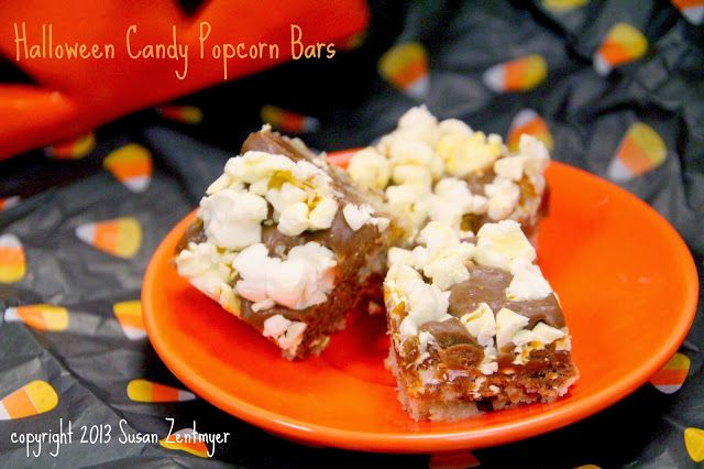Love in the Kitchen: Halloween Candy Popcorn Bars