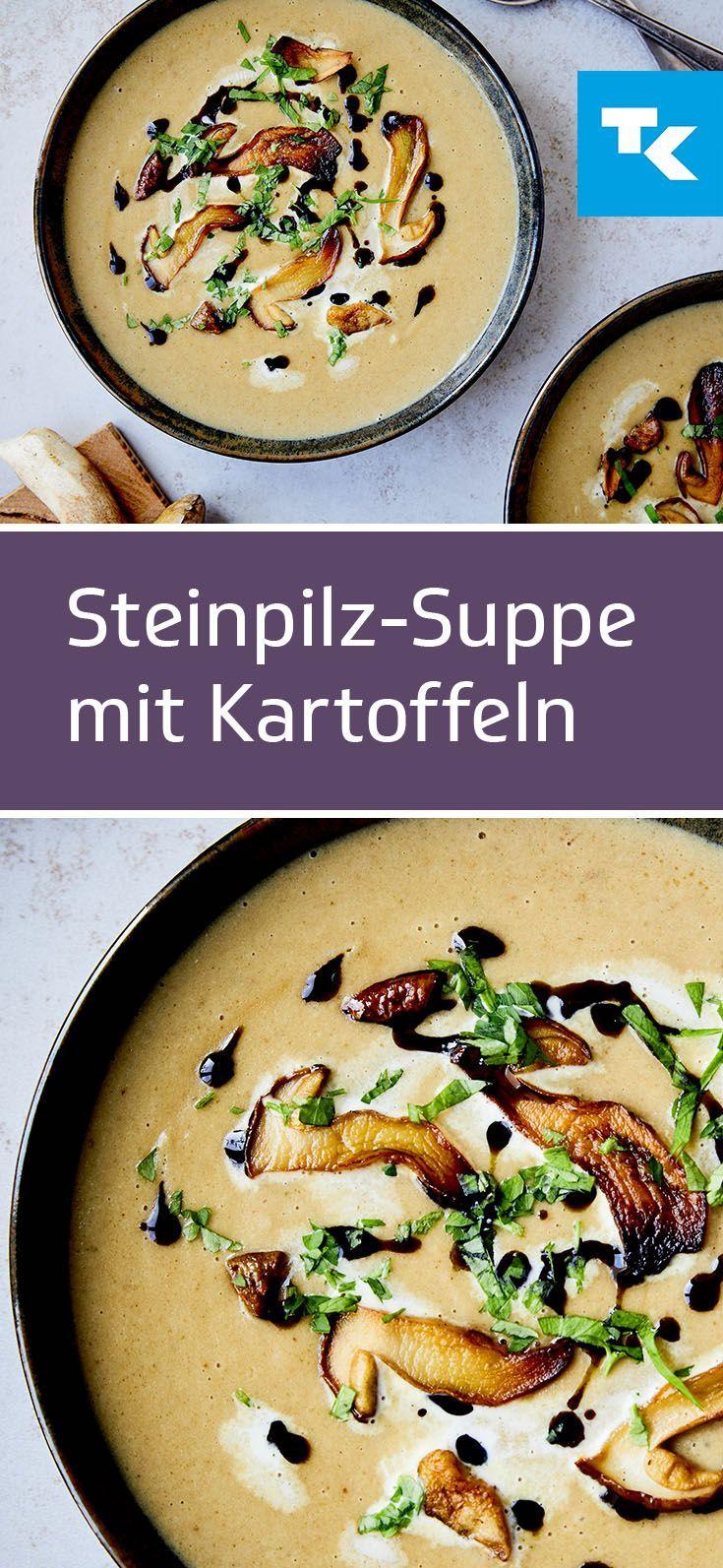 Suppenzeit bedeutet Steinpilz-Suppen-Zeit, jetzt unser Rezept für den Herbst au…