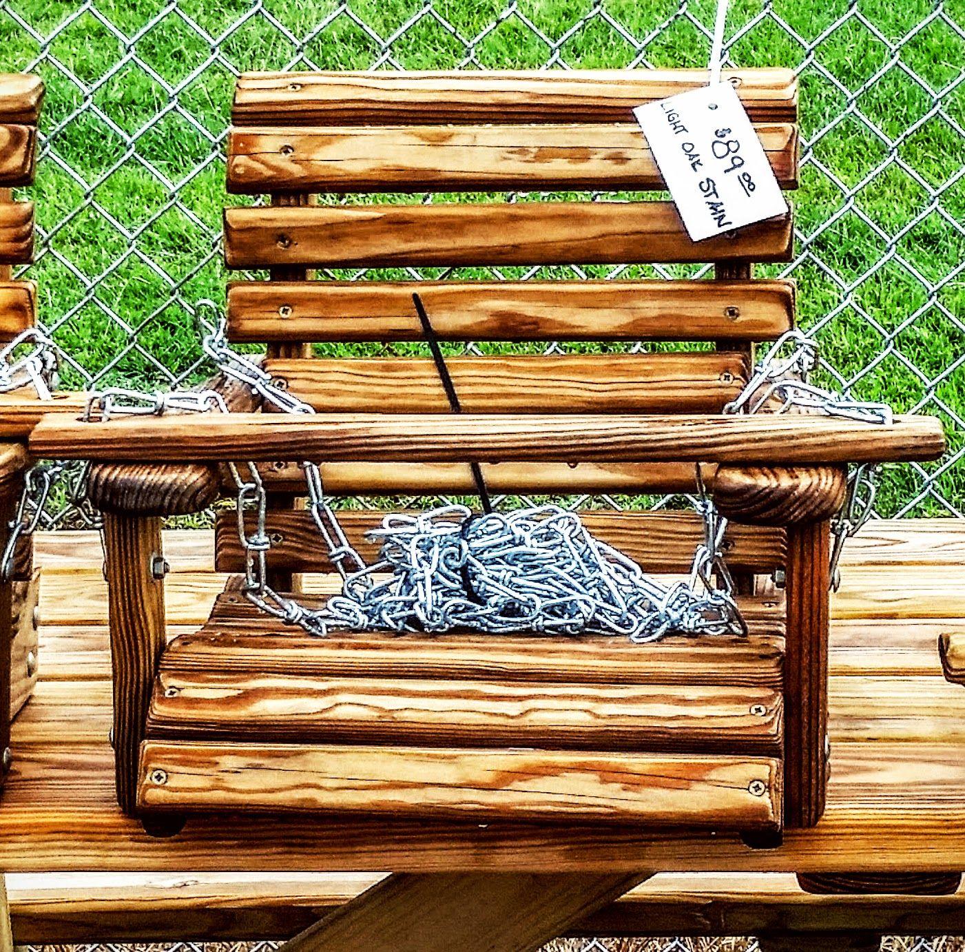 Wooden outdoor baby swing at azfarmandgarden yard decor