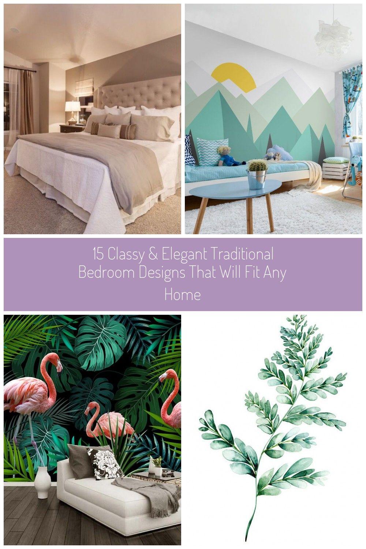 #green wallpaper decor 15 Classy & Elegant Traditional ...