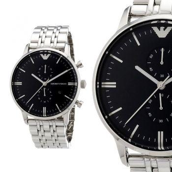 Emporio Armani Ar0389 Silber Edelstahl Herren Armbanduhr Chronograph Neu Ovp Emporio Armani Armani Uhren Herren Armbanduhr