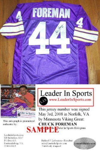 reputable site 79eeb 10454 Vikings Chuck Foreman Jersey | Cool Minnesota Vikings Fan ...