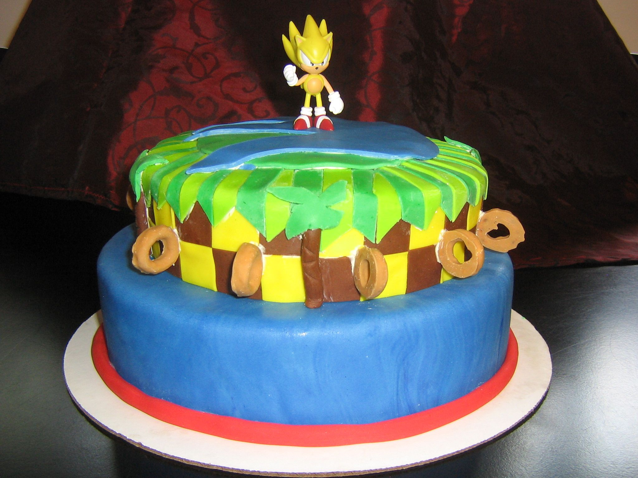 Pin Coolest Sonic The Hedgehog Cake Birthday Cakes Cake On