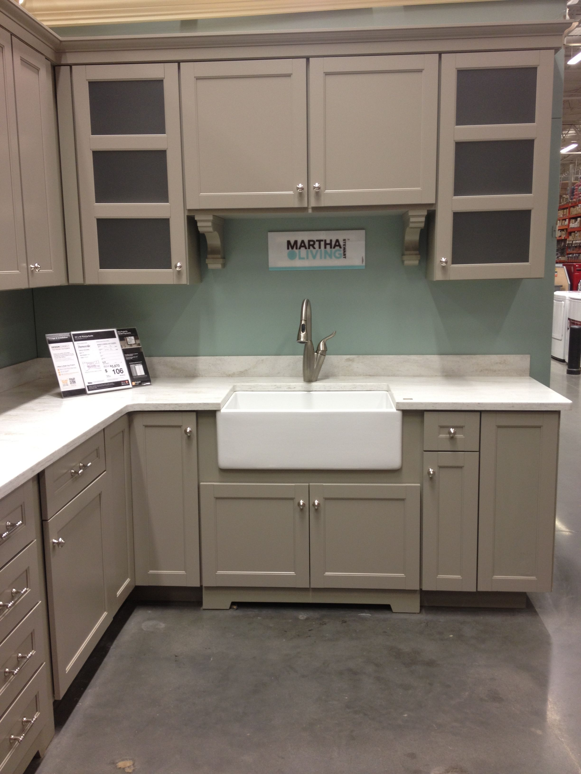 Martha Stewart Kitchen Display Home Depot Home depot