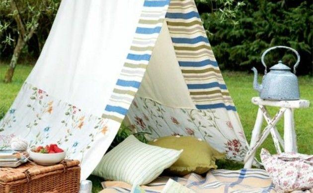 Gartenparty Deko selber machen DIY Deko Ideen Zelt - deko gartenparty selber machen