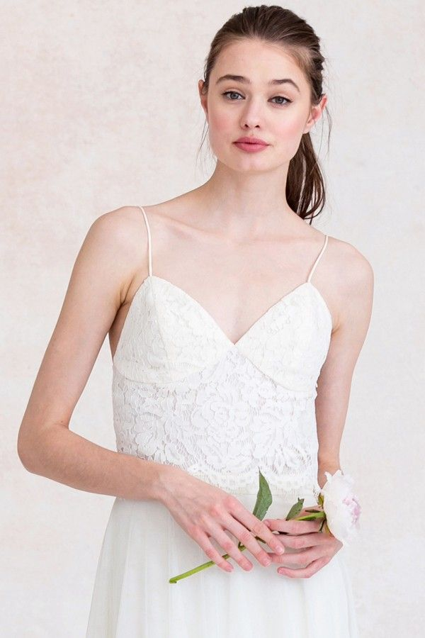 The Pippa Shown In Ivory Bridal Separate Rustic Lace Bridal Look Wedding Dress Shopping Bridal Gowns Bridesmaid