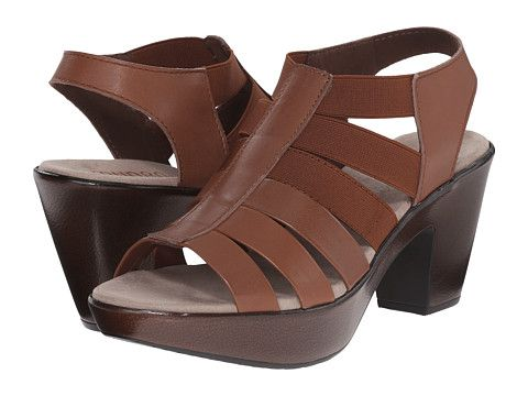 b21172a164ea Munro Cookie Brown Leather Matching Elastic - 6pm.com