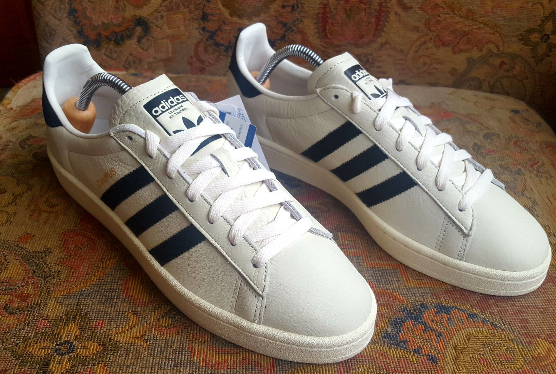Adidas Originals Campus white leather latest pick up at a ...