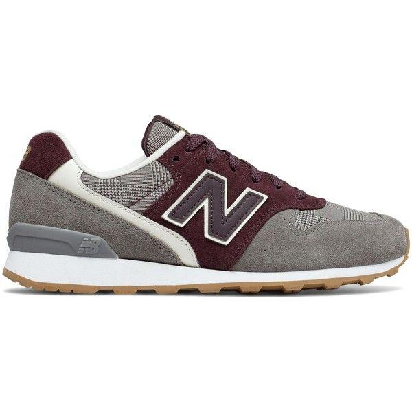 New Balance 696 Glen Check Plaid Women's Running Classics Shoes ($80) ❤  liked on