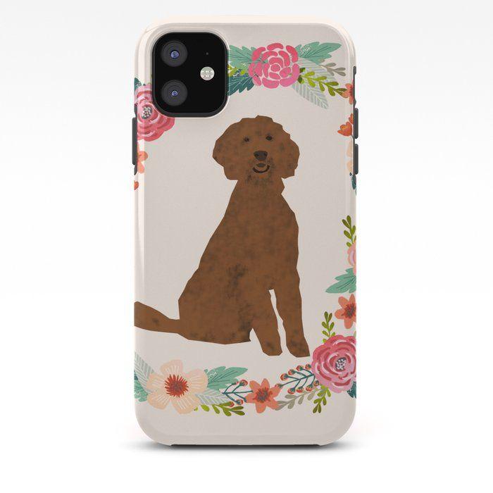 Photo of goldene Gekritzel Hund Blumenkranz Hund Geschenke Haustier Porträts iPhone Fall von PetFriendly – iPhone 11 – Tough Case