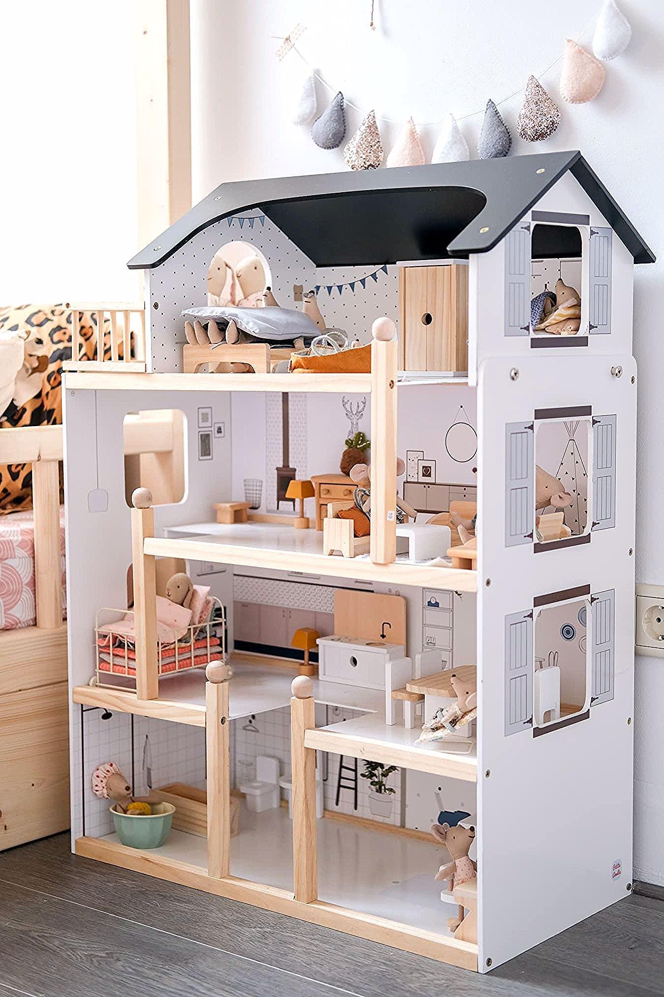 De Pinterest Waardige Meidenkamer Van Michou Dollhouse Maileg Girlsroom Kids Doll House Doll House Plans Barbie House