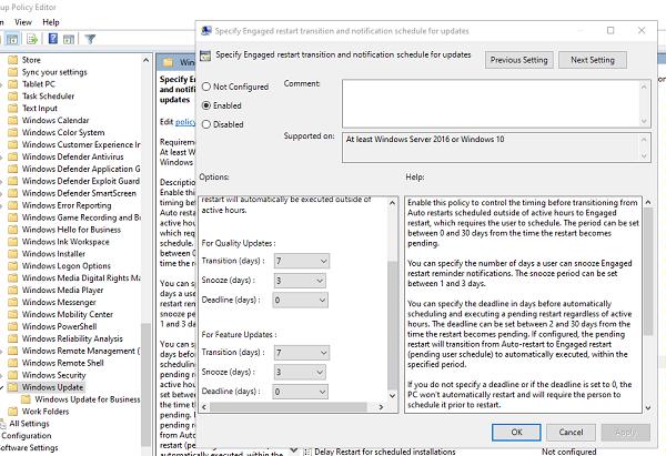How To Specify Deadline Before Auto Restart For Update Installation In Windows 10 Pc Repair Installation Restart