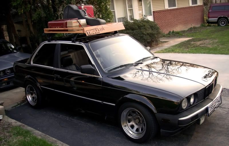 Wooden Roof Rack W Sides