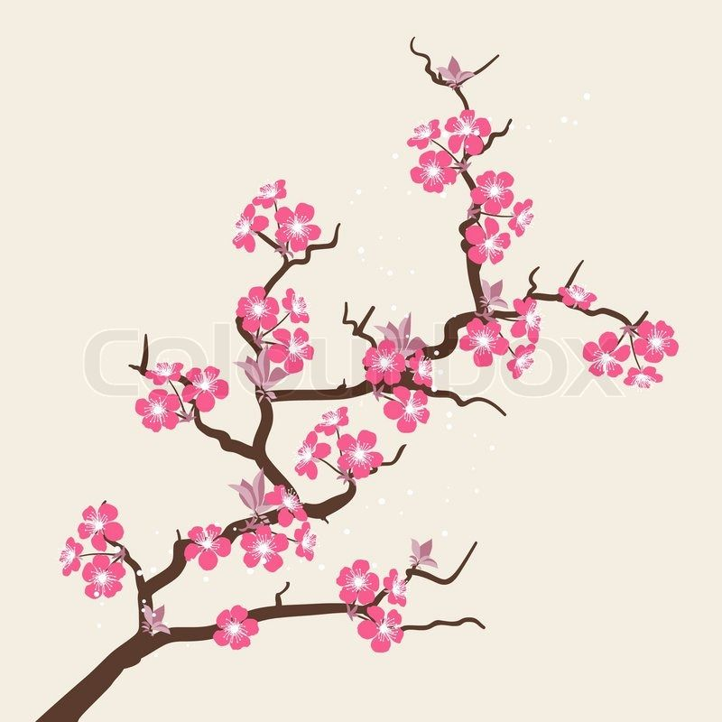 Red Cherry Blossom Flower Clipart Free Clip Art Images Cherry Blossom Art Cherry Blossom Drawing Cherry Blossom Flowers