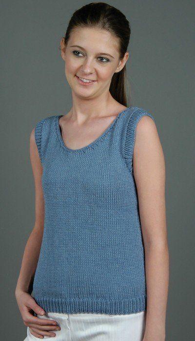 Free Knitting Pattern Womens Short Sleeve Knits Katrina Tank