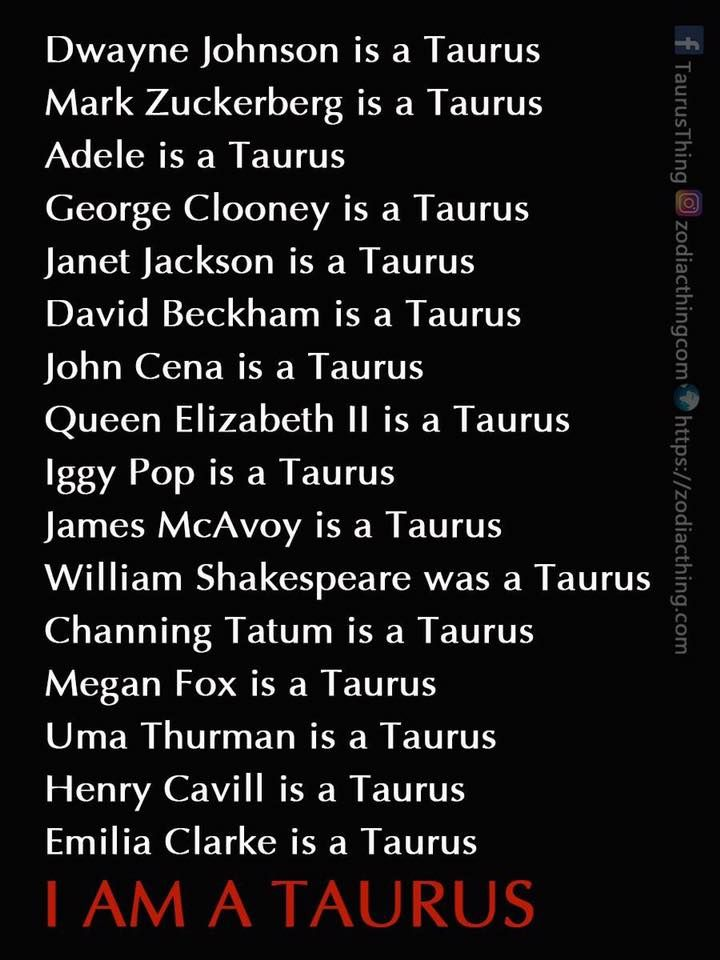 Taurus Horoscope April 20 May 20 Celebrities Taurus Zodiac Facts Horoscope Taurus Zodiac Signs Taurus