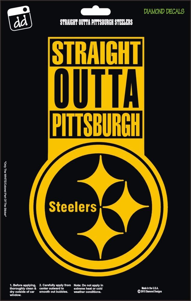 Pittsburgh Steelers Str8 Outta NFL Football Champs Gold Vinyl Decal ...