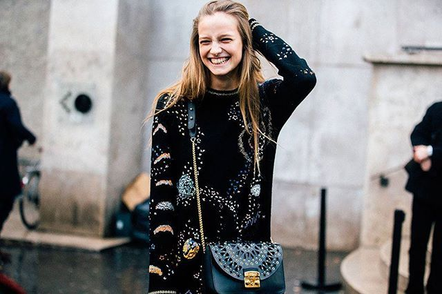 Sunday smiles!  Ine captured by @melodiejeng on the streets of Paris ❤ #ineneefs #modeloffduty #pfw #streetstyle #beauty #keeponsmiling #happymodels #modelstyle #paris #fashionweek #melodiejeng #parisstreetstyle