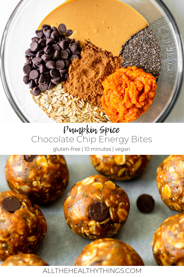 Pumpkin Spice Energy Bites - All the Healthy Things