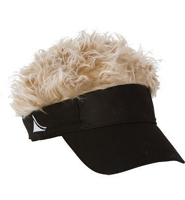 guy fieri HAT Amazon.com  Flair Hair Men s Red Visor and Hair  Clothing 2e614575fbce