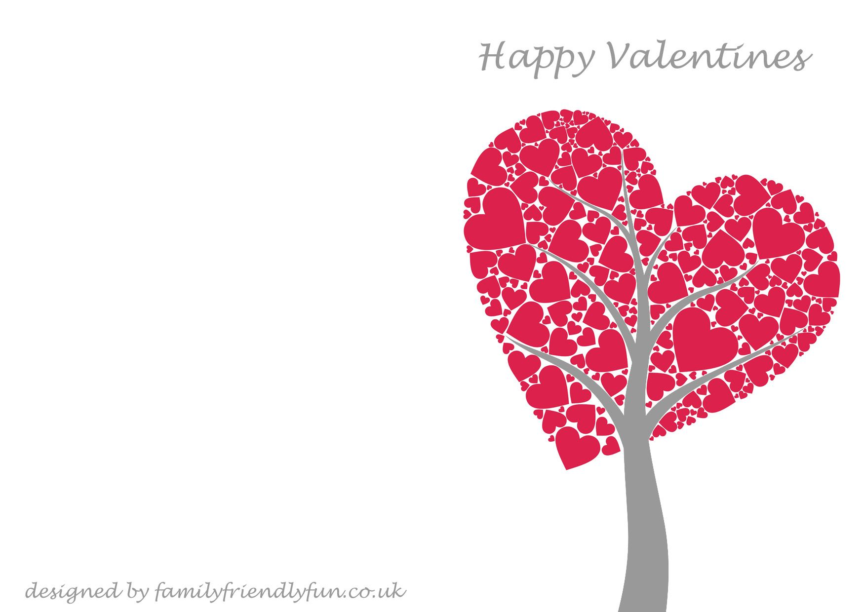valentines card templates – Printable Valentine Day Card