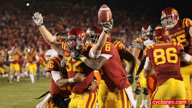 Cyclones Stun No 2 Oklahoma State Bowl Eligible With Images