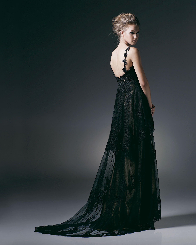 Designer evening gowns double aline designer evening dress in
