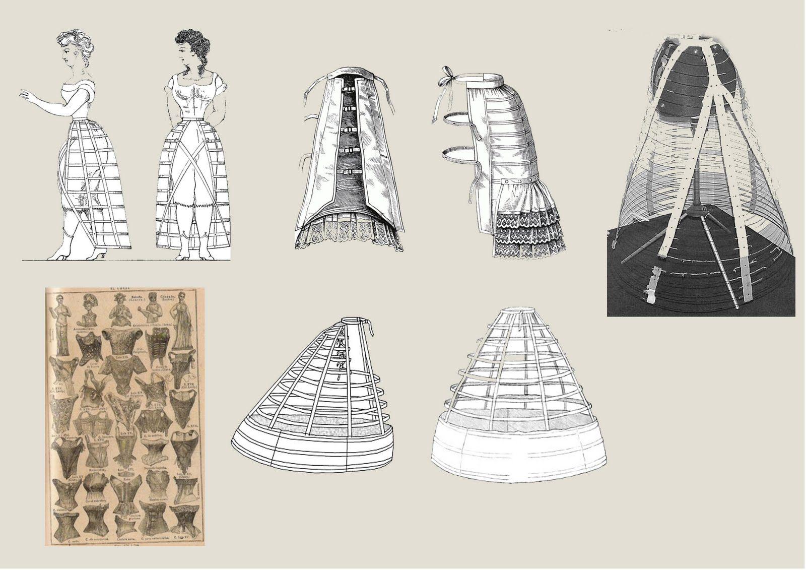 miriñaque, también llamado crinolina, es una forma de falda amplia ...