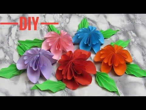 How to make paper flowers in easy way diy paper flowers youtube how to make paper flowers in easy way diy paper flowers youtube mightylinksfo