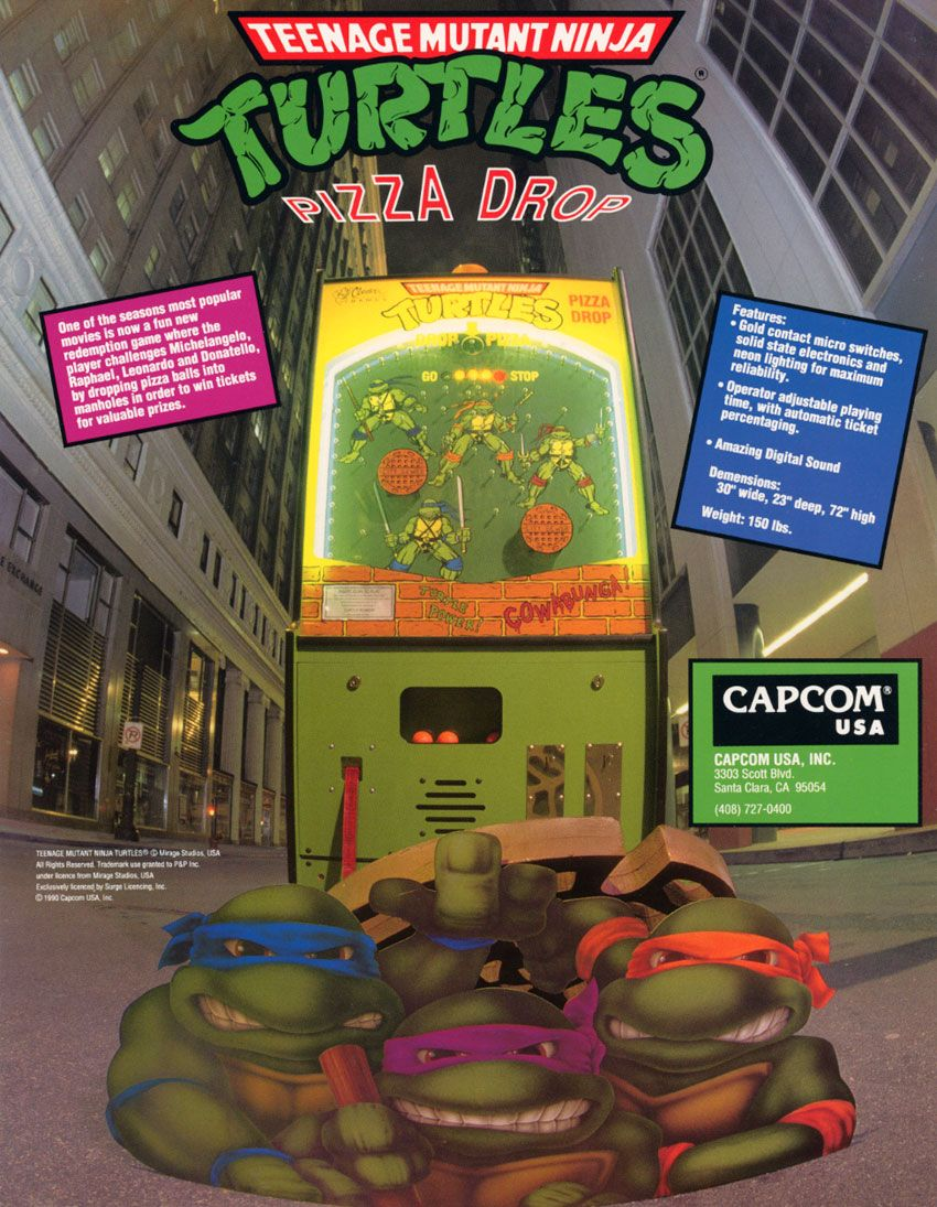 Teenage Mutant Ninja Turtles Pizza Drop game! Ahhhhhhh! My