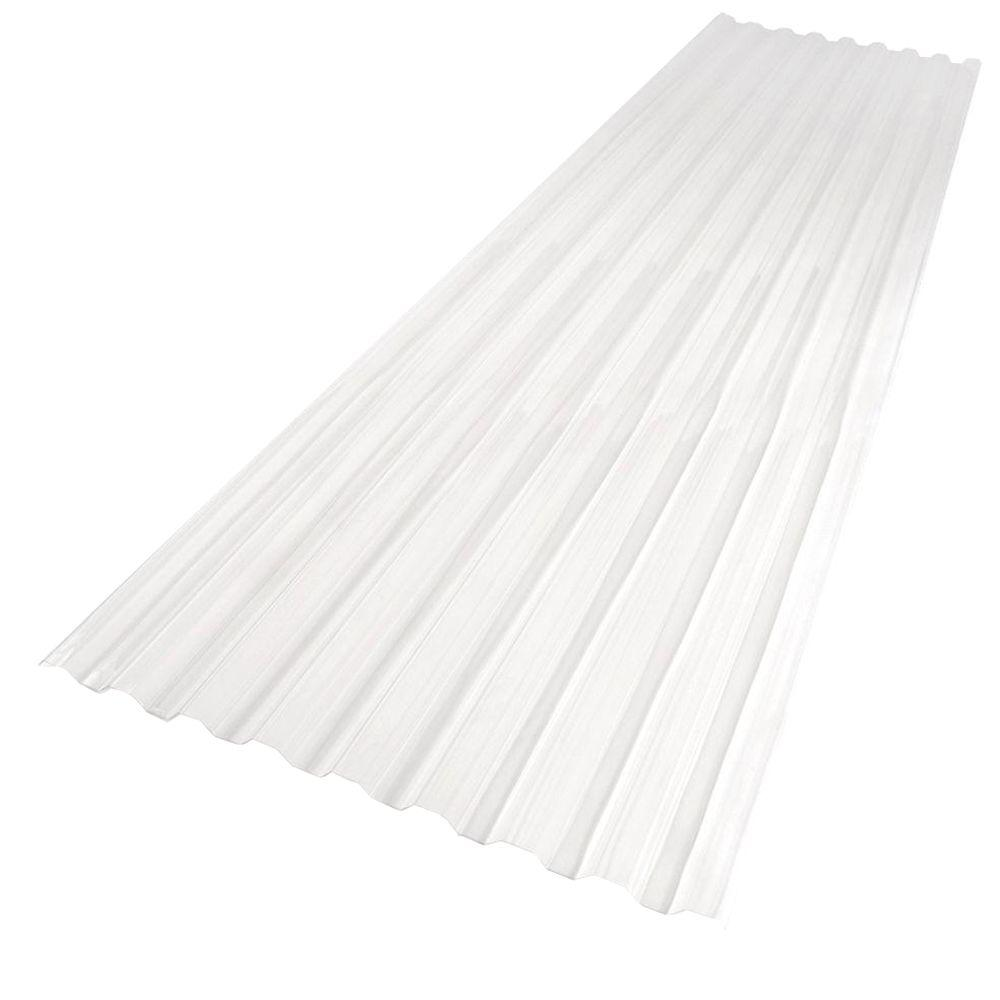 Suntuf 26 In X 8 Ft Polycarbonate Roofing Panel In Clear 101697 The Home Depot Corrugated Plastic Roofing Polycarbonate Roof Panels Corrugated Roofing