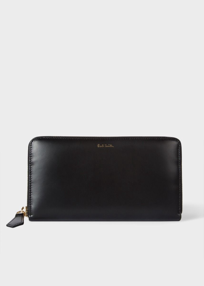 PAUL SMITH Men s Large Black Leather Signature Stripe Interior Zip-Around  Wallet.  paulsmith   d54c5100ebc26