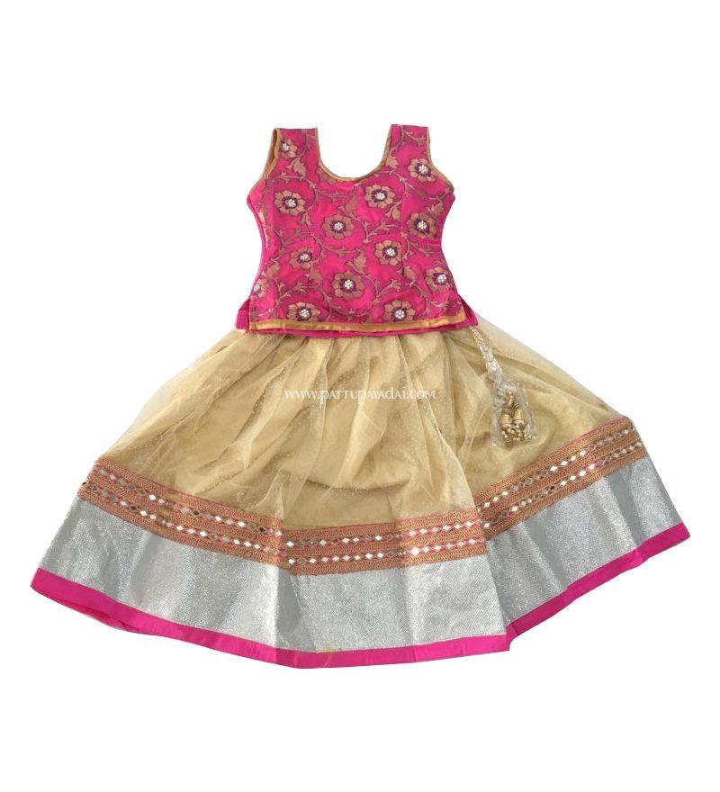 Fancy Pattu Langa Pattu Langa Hyderabad Shopping Traditional Kids Langa Babies Langa Fancy Pattu Pavadai Buy P Kids Blouse Designs Kids Blouse Kids Dress