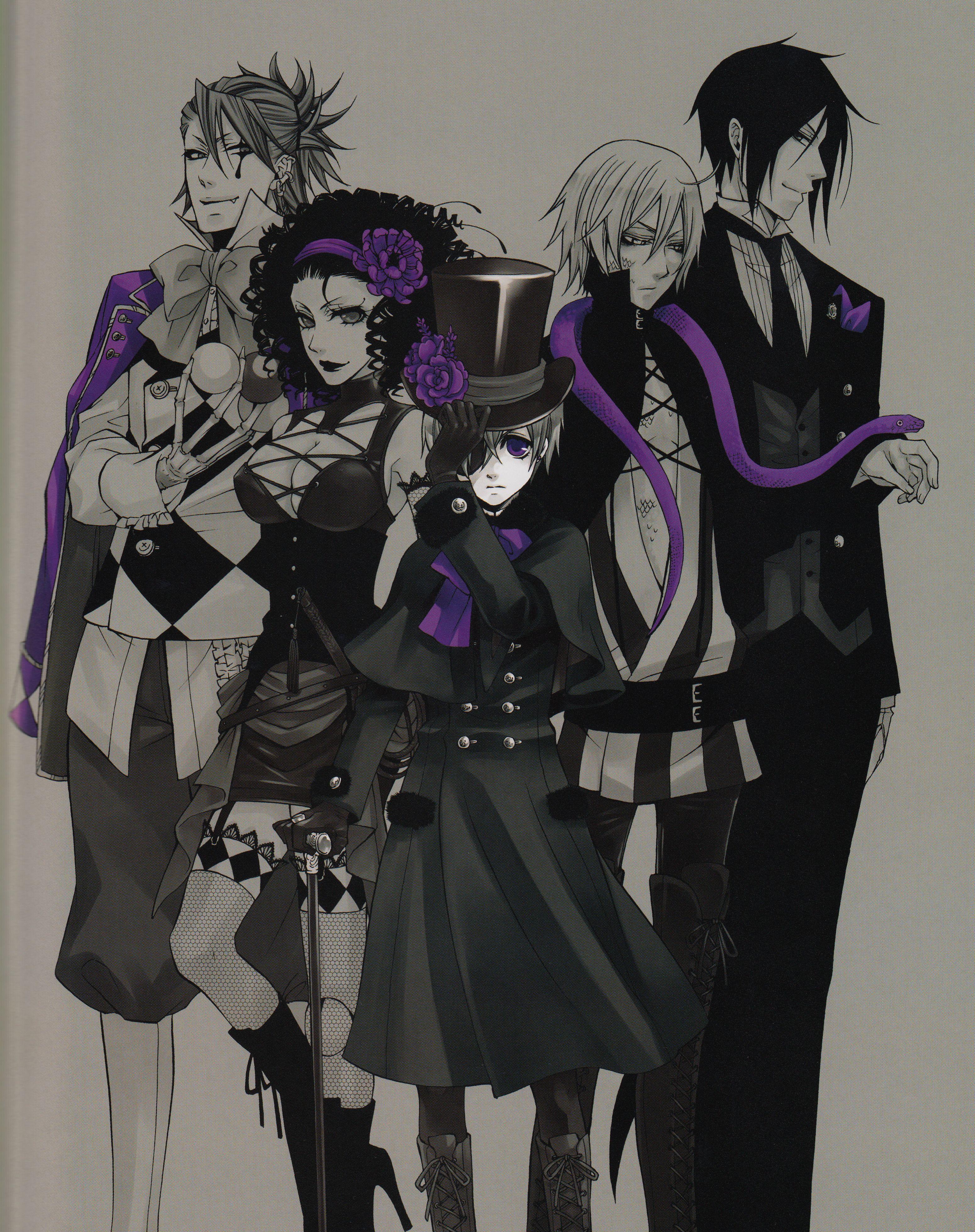 Joker beast ciel snake and sebastian purple for Mein butler