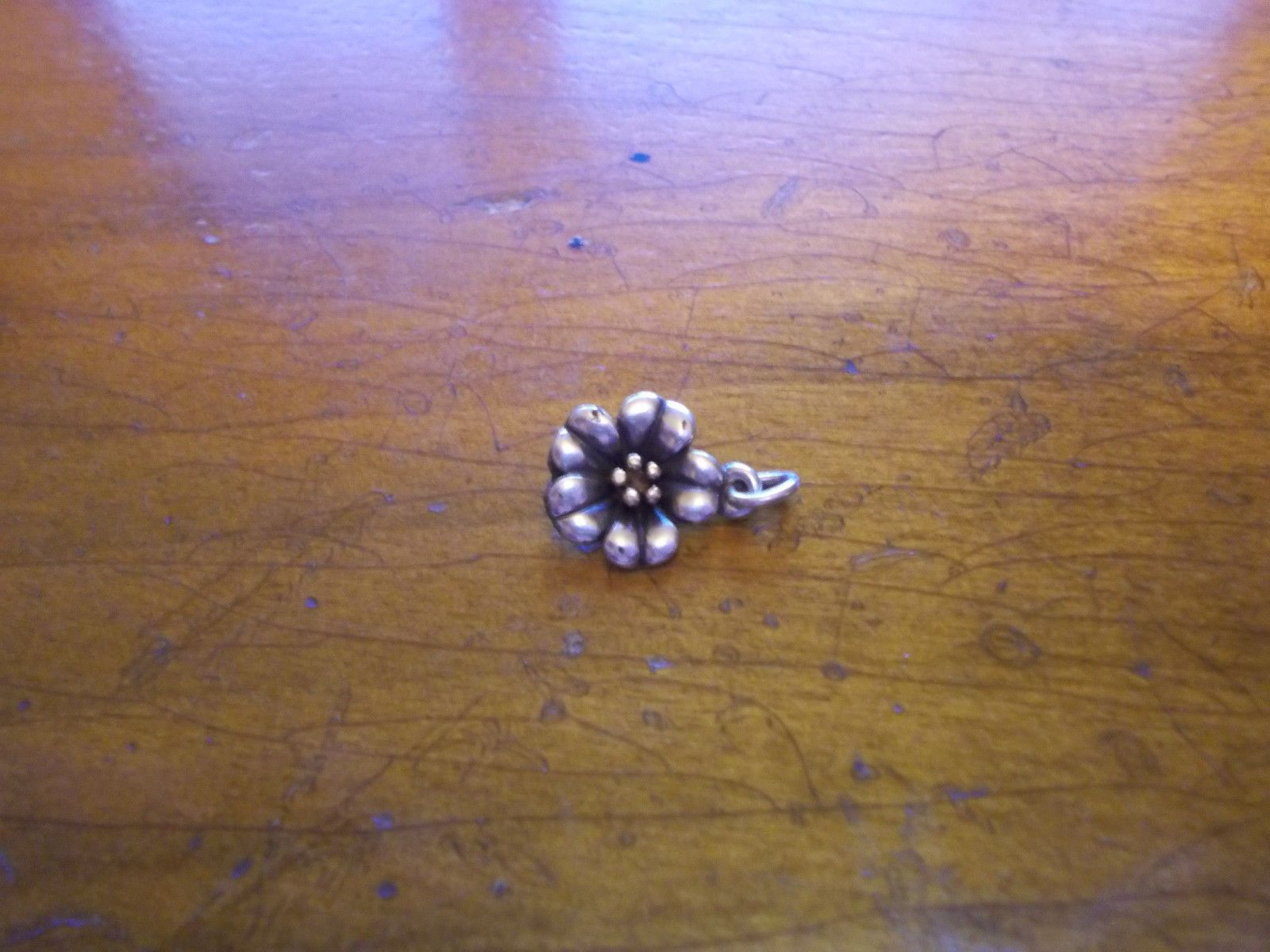 James Avery Retired 18k And Sterling April Flower Charm