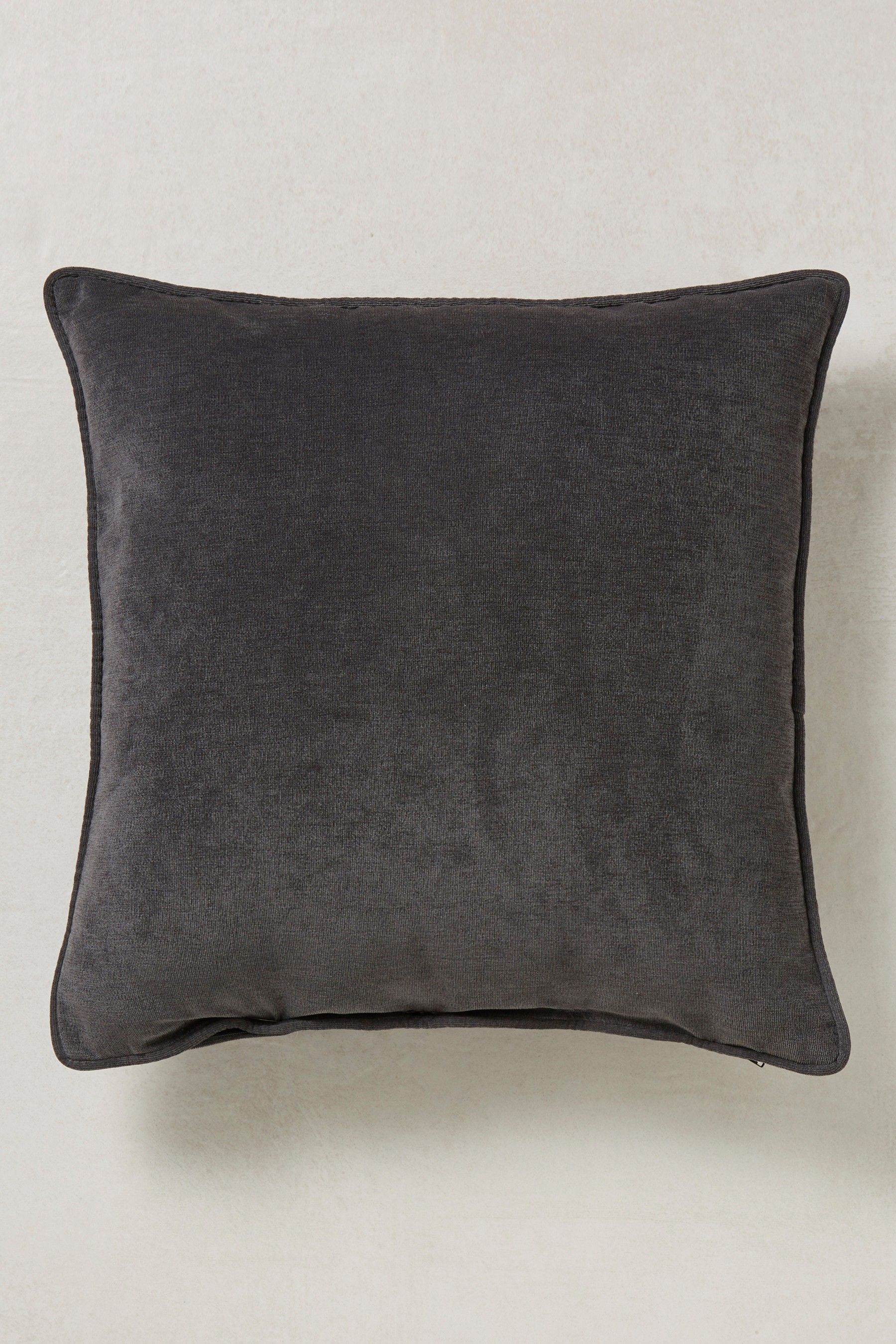 large square sofa cushions sofas coleraine next soft velour cushion black products