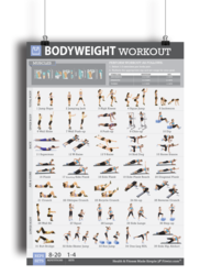 Bodyweight Workout Exercise Poster für Damen 19 X27 Laminated #HantelÜbungsTrainingsPlakat #lamelliert #x24 #dumbbellexercises