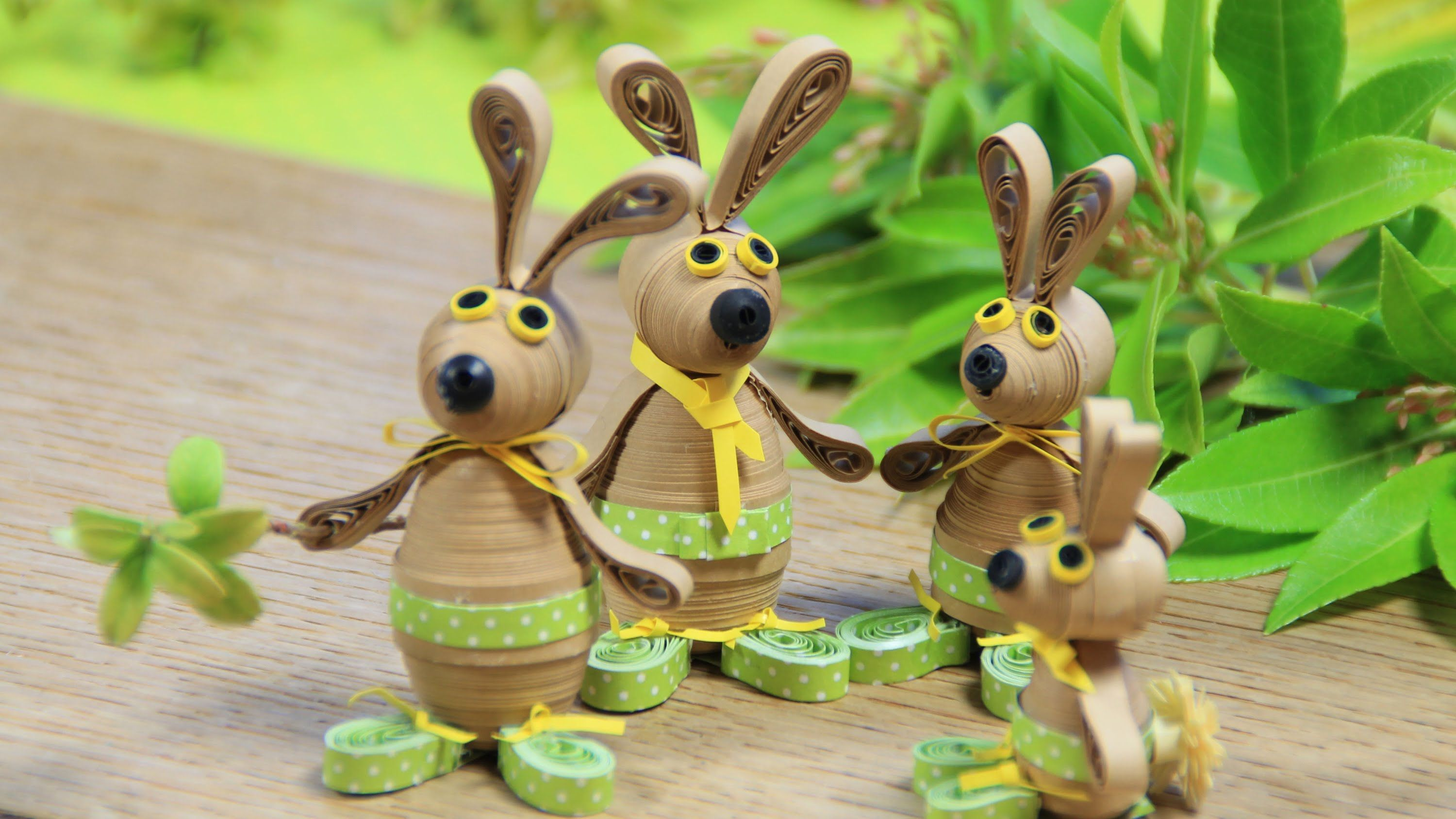 3D Quilling Easter Bunnies
