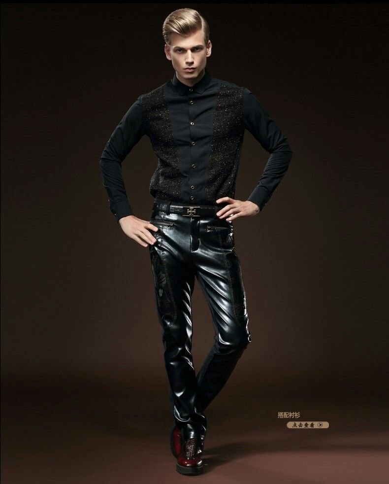 6ae6f0c91041d0 Men in leather pants   Men's Fashion in 2019   Leather pants ...