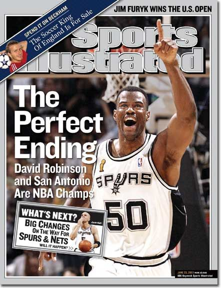 Dave... On the Cover: David Robinson, Basketball, San Antonio Spurs  Photographed by: John W. McDonough